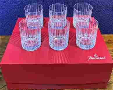 Set of 6 Baccarat Harmonie tumblers in box