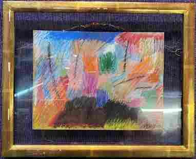 Pastel drawing signed P. F. Riem