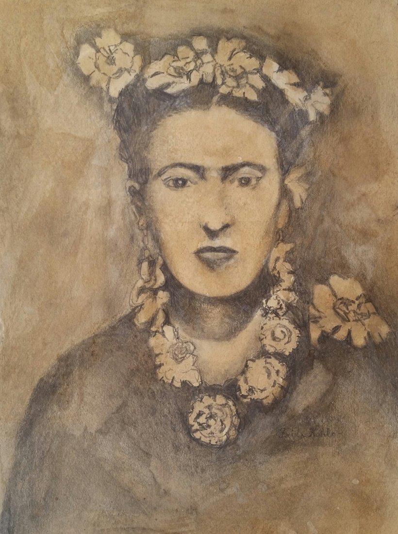 Frida Kahlo Drawing Latin American Mexican (1907-1954)