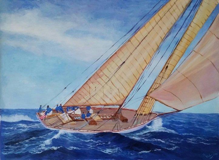 Rigoberto Pelaez Latin American Art Seascape Realism