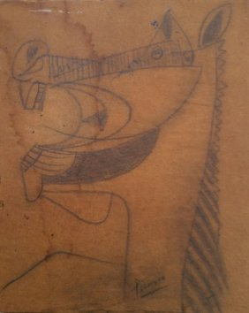 Pablo Picasso Mixed Media Drawing Horse Spanish