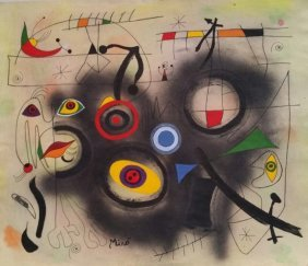 JOAN MIRO ABSTRACT FIGURATIVE ( SPANISH 1893-1983)