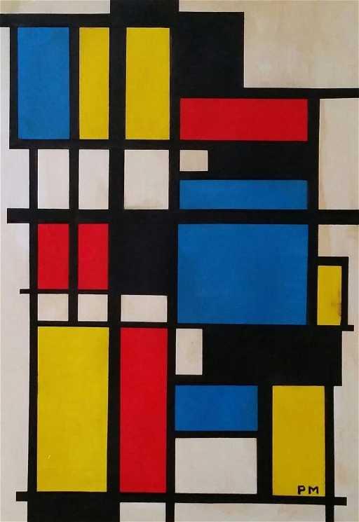 Mondrian neo plasticism painting
