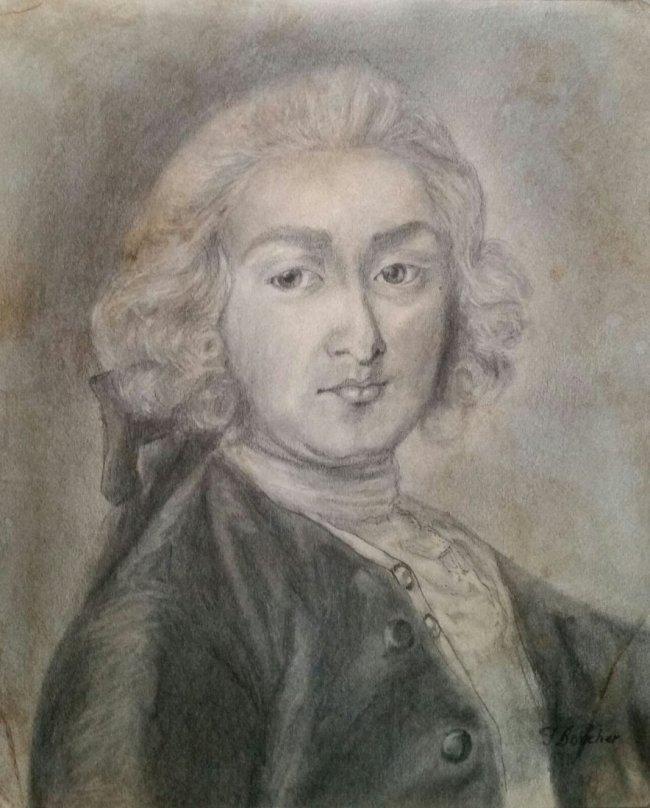 Francois Boucher Drawing Self Portrait French 1703-1770