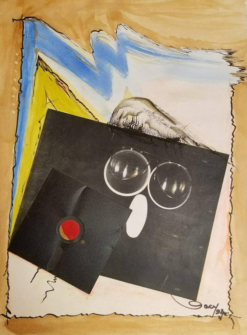 ABSTRACT MODERN SURREALISM LATIN AMERICAN ART GACY COA