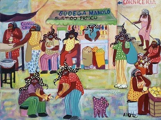 Adalberto Noble Latin American Art Naif Naive