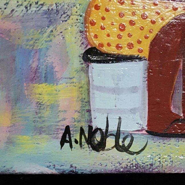 Adalberto Noble Latin American Art Naif Naive - 2