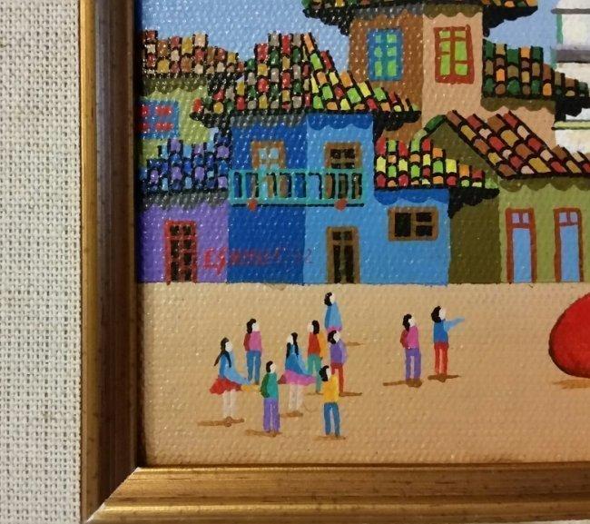 Naive Art Landscape Latin American Art Naif E.guhlle - 3