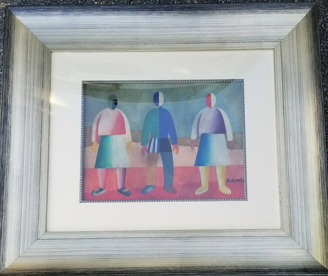 Kazimir Malevich Drawing Men Women Russian 1878-1935 - 2
