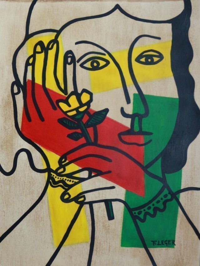 Fernand Leger Mixed Media on Paper, French 1881-1955 - 2
