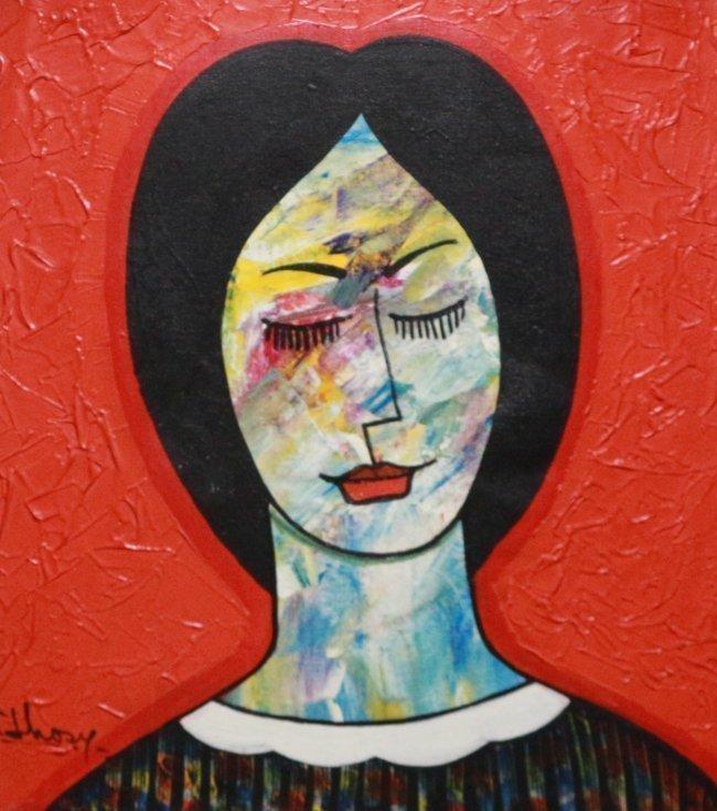 Latin American Art Women Figurative Modern by Jhosy
