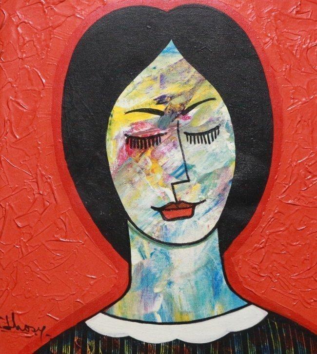 Latin American Art Women Figurative Modern by Jhosy - 2