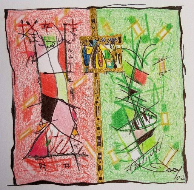ABSTRACT DECO CARIBBEAN LATIN AMERICAN ART  GACY