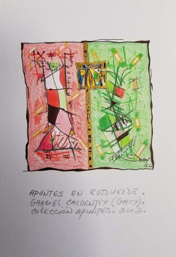 ABSTRACT DECO CARIBBEAN LATIN AMERICAN ART  GACY - 2