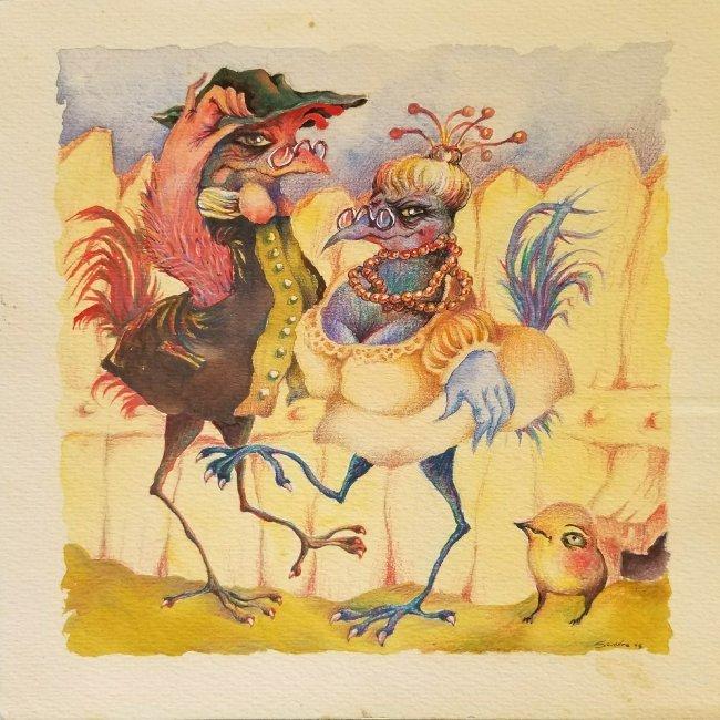 Latin American Cartoons Naive Surrealism Art Cuban - 2