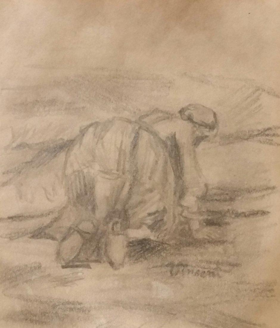 Vincent Van Gogh Landscape Drawing (1853-1890)