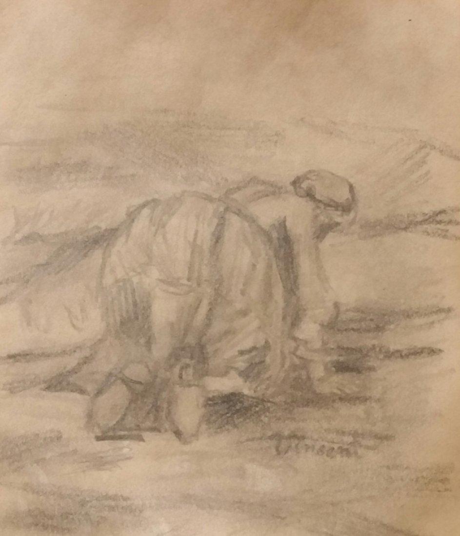 Vincent Van Gogh Landscape Drawing (1853-1890) - 2