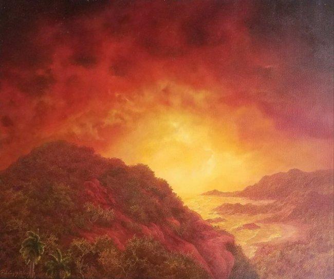 Realism Landscape Latin American Art Master R.PELAEZ  A