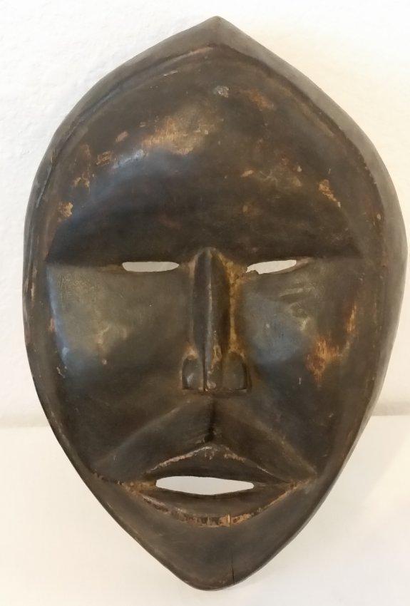 African Mask Wood Hand Carved Vintage Antique Sculpture