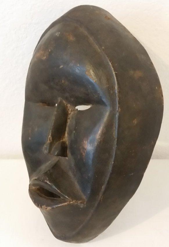 African Mask Wood Hand Carved Vintage Antique Sculpture - 3