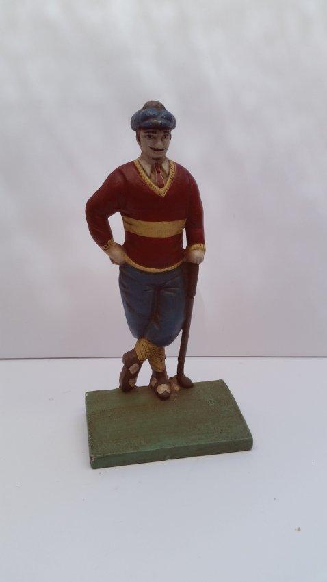 Antique Old Cast Iron Golf Sculpture