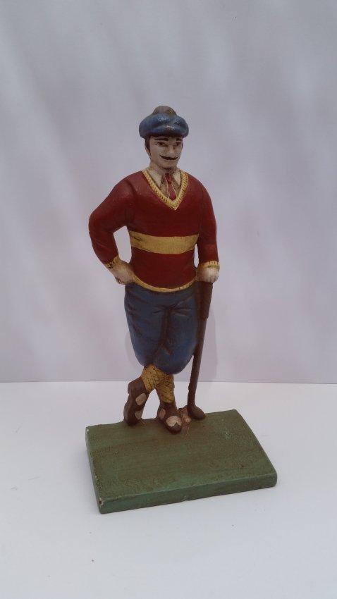 Antique Old Cast Iron Golf Sculpture - 3