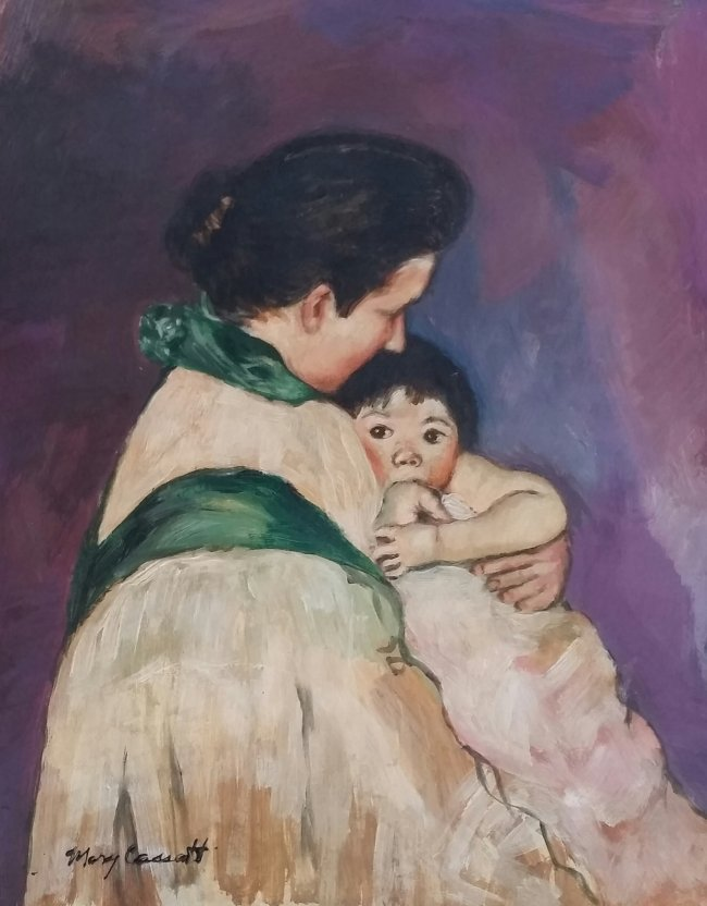 Mary Cassatt Mother Child French (1844-1926)