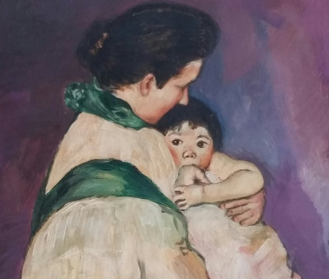 Mary Cassatt Mother Child French (1844-1926) - 2
