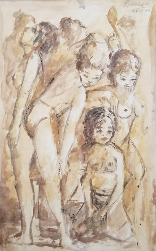 Pablo Picasso Drawing Cubism Realism Women Early