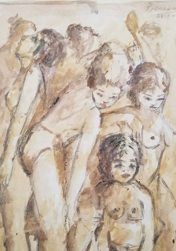 Pablo Picasso Drawing Cubism Realism Women Early - 2