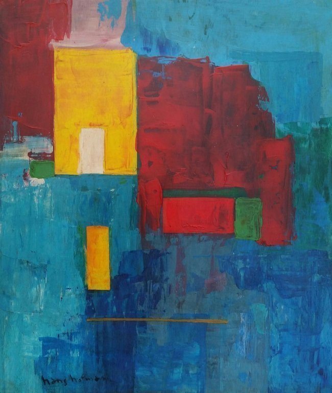 Hans Hofmann Abstract Painting Mixed Media (1880-1966)