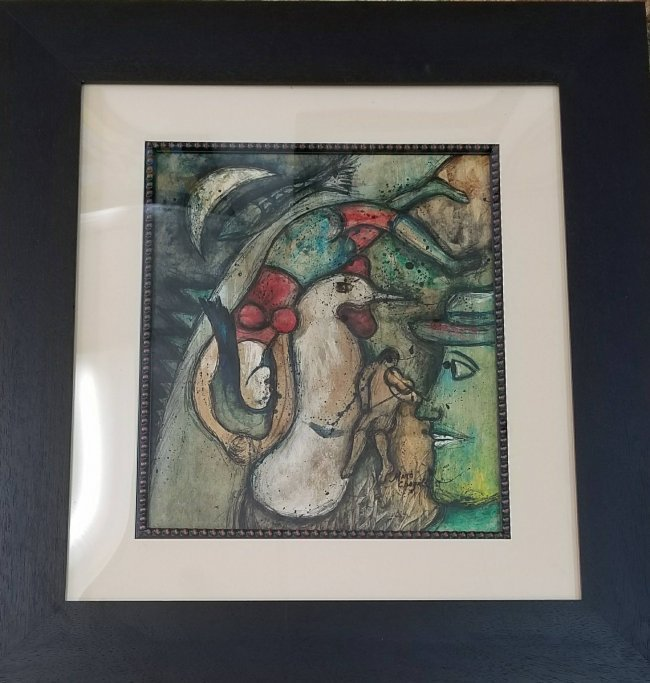Marc Chagall Mixed Media on Board (1887-1985) - 2