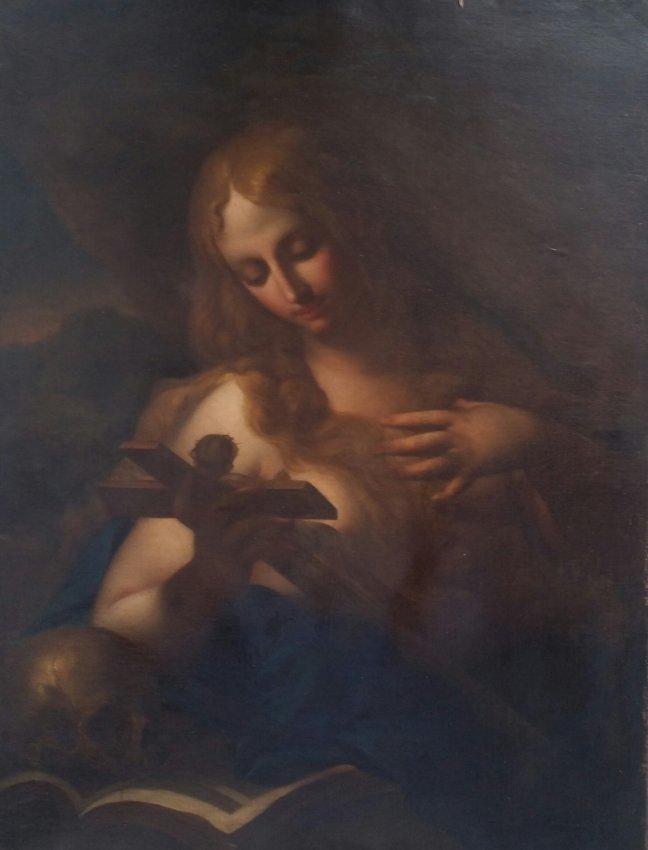 Religious Italian Painting XIX Century Women Virgin