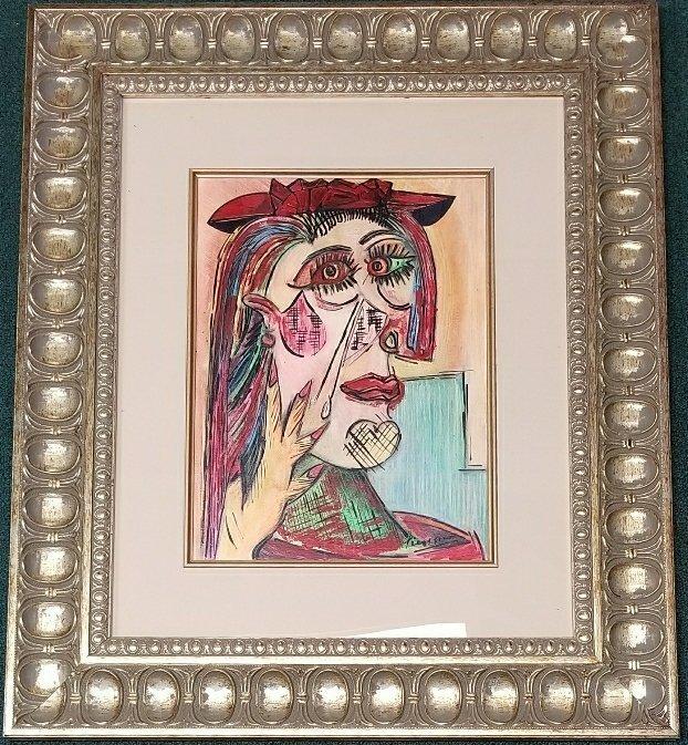 Pablo Picasso Mixed Media Women Cubism Spanish
