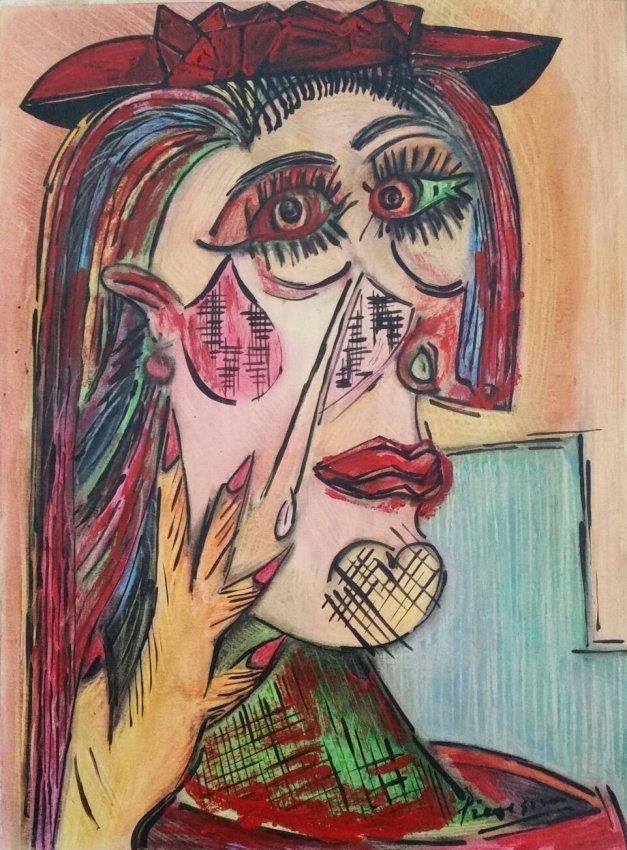Pablo Picasso Mixed Media Women Cubism Spanish - 2
