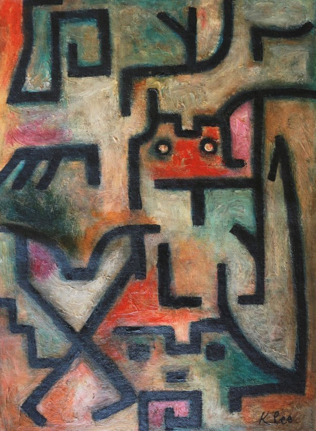 Paul Klee Mixed Abstract Expressionist Swiss German Art