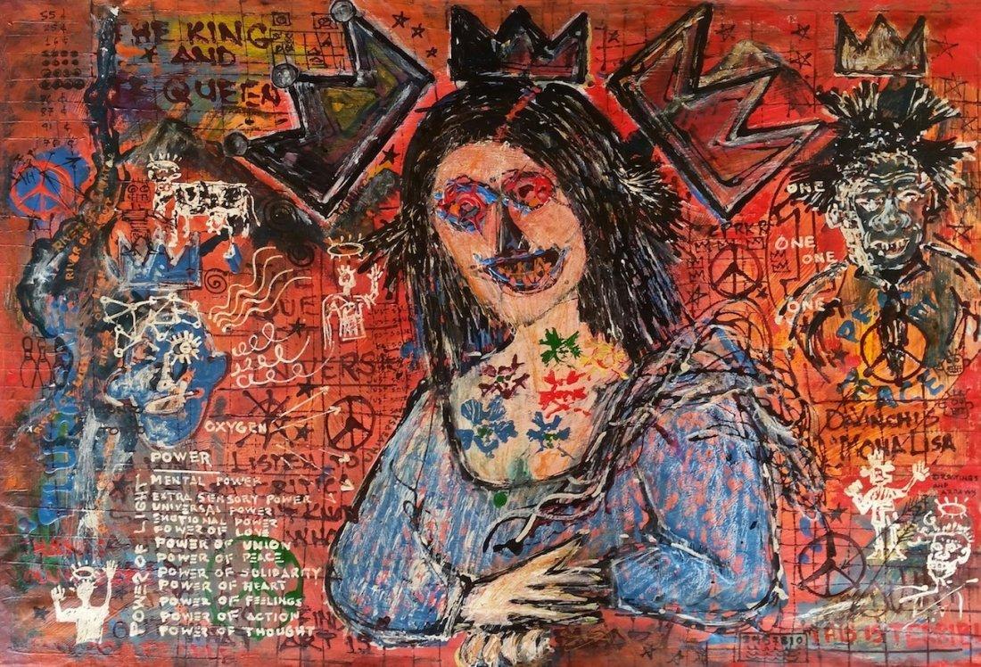 Jean-Michel Basquiat Da Vinci Monalisa Tribute