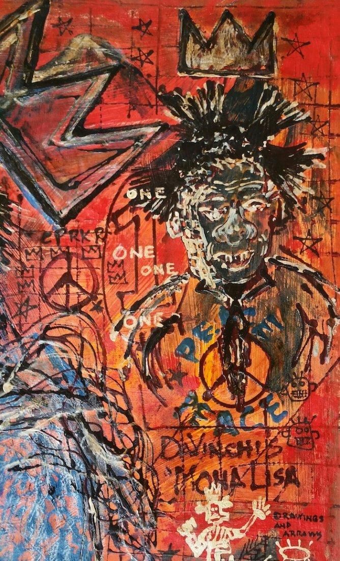 Jean-Michel Basquiat Da Vinci Monalisa Tribute - 2