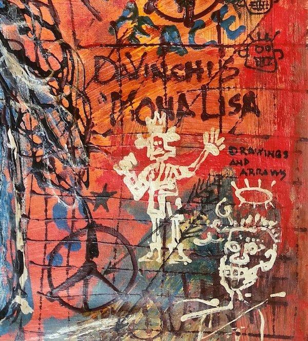 Jean-Michel Basquiat Da Vinci Monalisa Tribute - 3