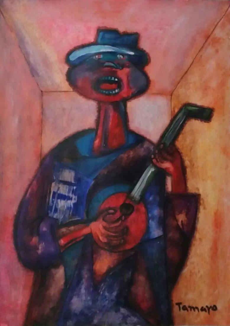 Rufino Tamayo Mixed Media Mexican (1899-1991)