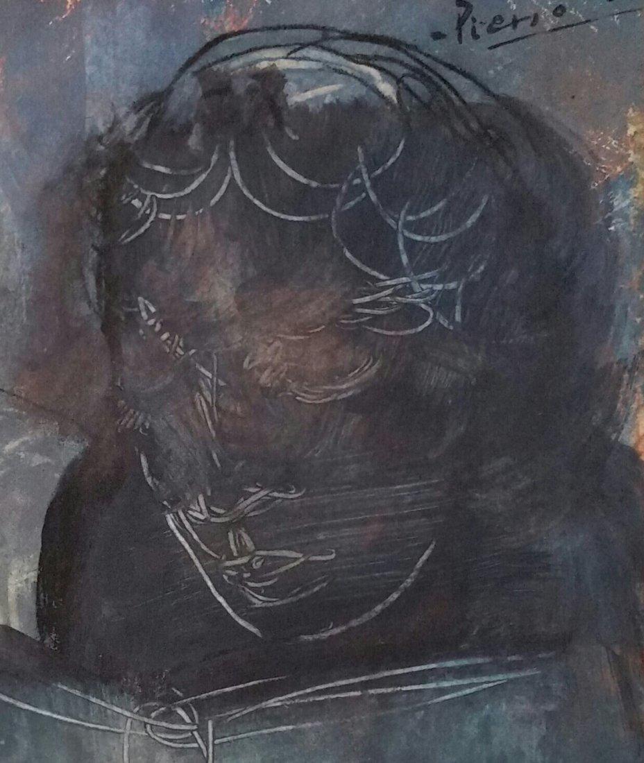 Pablo Picasso Blue Period (Attri ,Mixed Media ) - 2