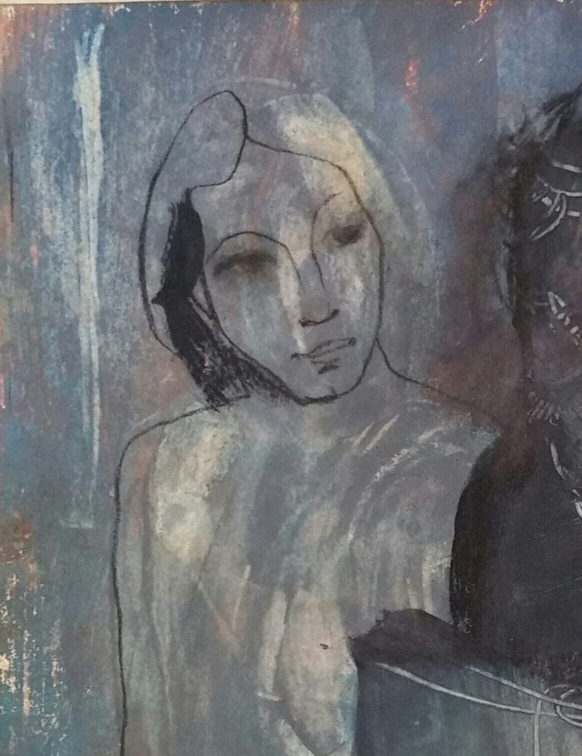 Pablo Picasso Blue Period (Attri ,Mixed Media ) - 3