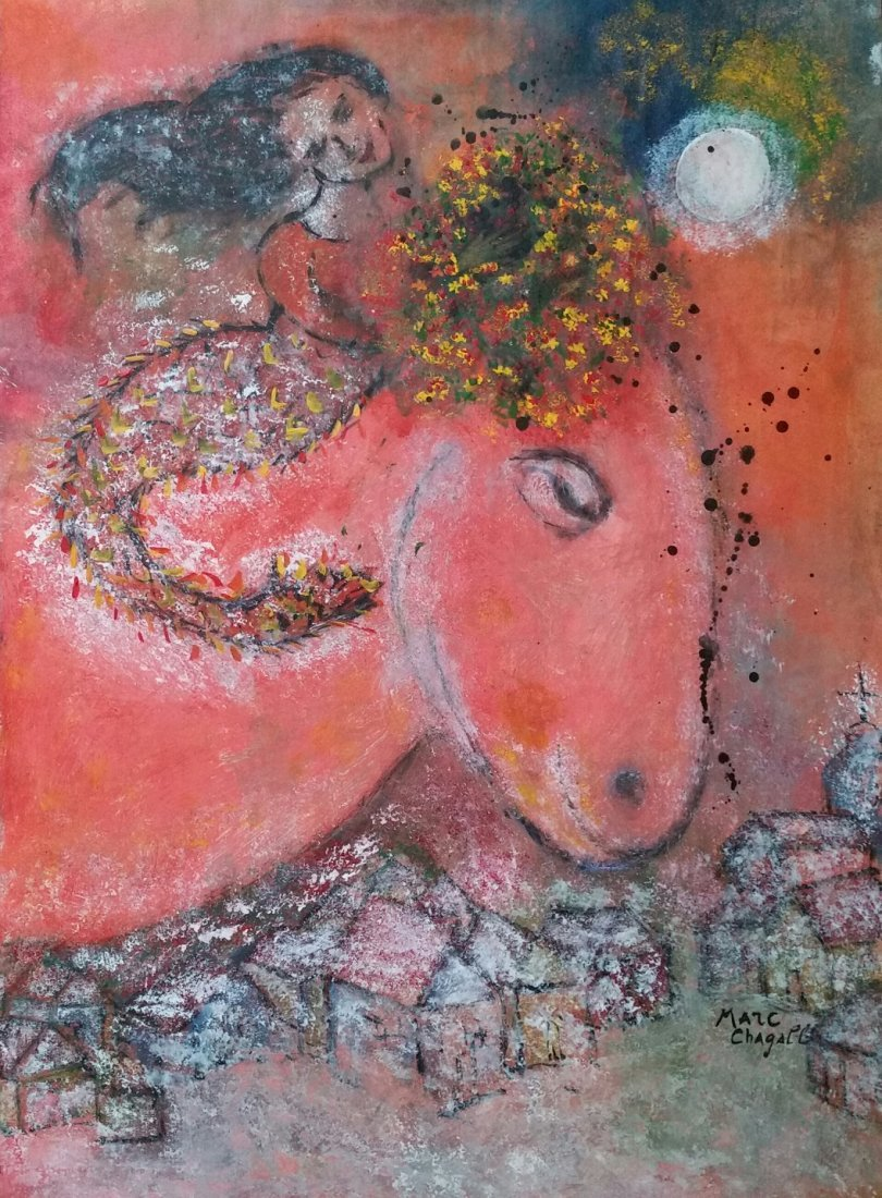 Marc Chagall (1887-1985), Mixed Media Attributed