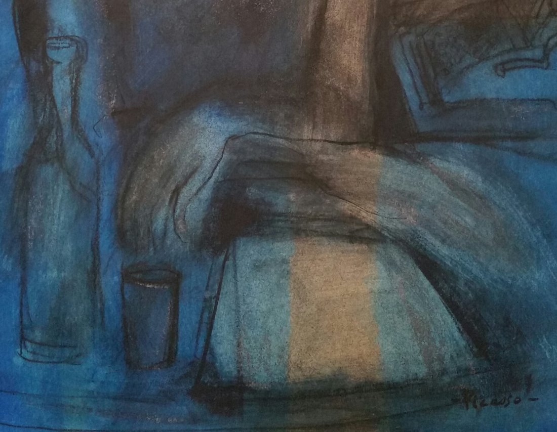 PABLO PICASSO BLUE PERIOD (MIXED MEDIA ATTRIBUTED) - 2