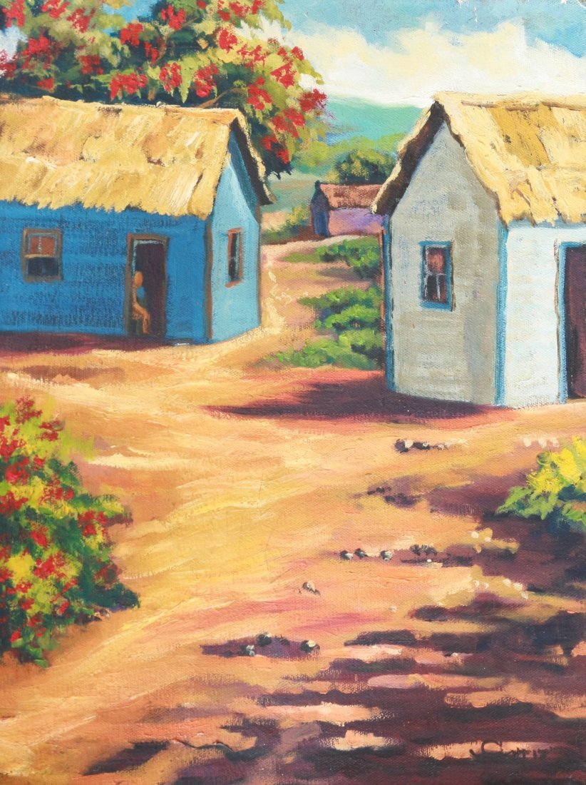IVAN ORTIZ LANDSCAPE CARIBBEAN LATIN AMERICAN ART