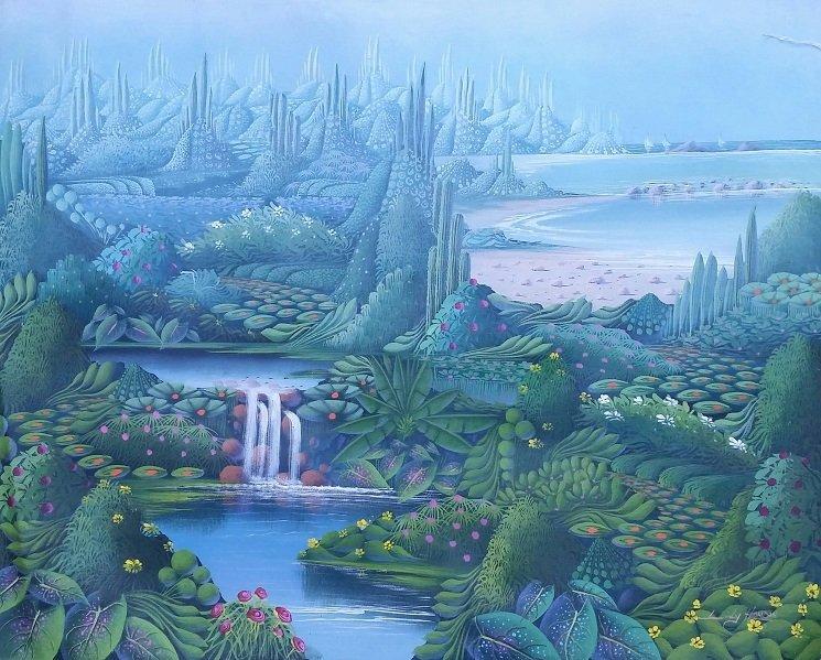 LILY HONSON HAITIAN ART LATIN AMERICAN LANDSCAPE