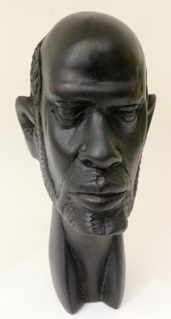 Elizabeth Catlett Men Wood Sculpture Mexican American . - 3