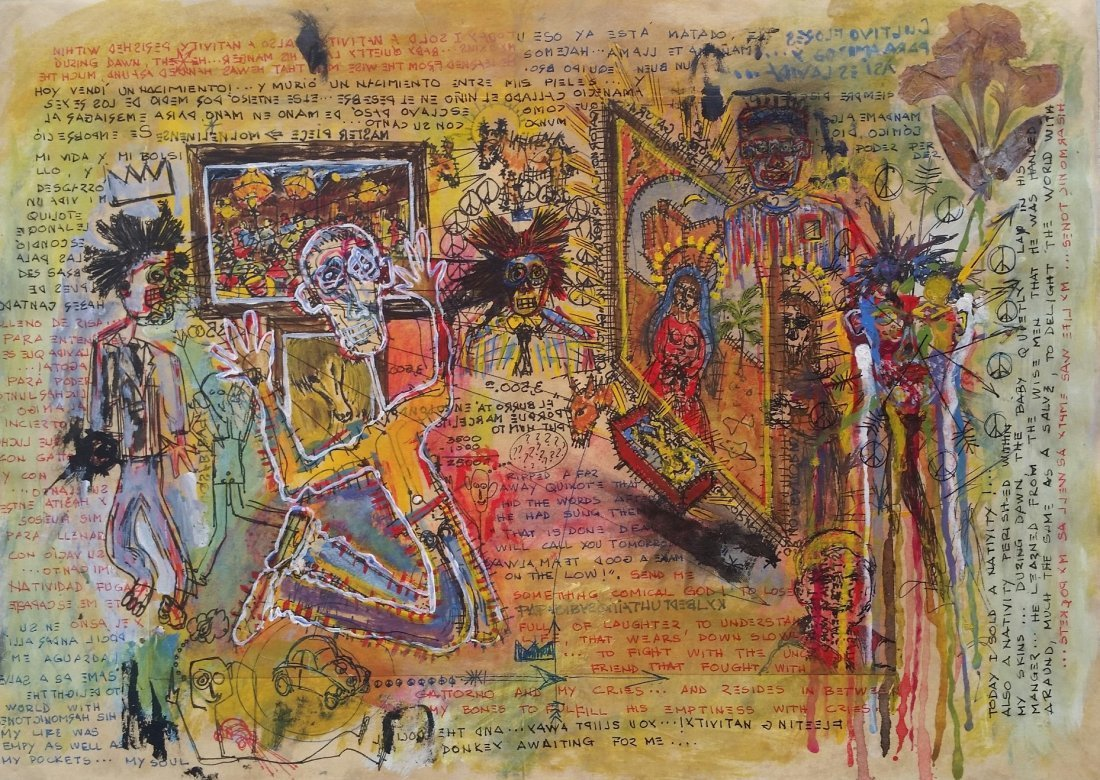 Jean Michel Basquiat Drawing Mixed on paper (1960-1988) - 2