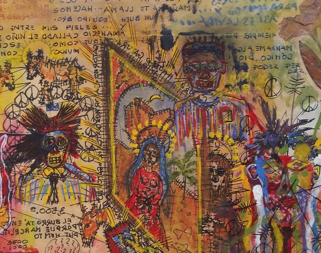Jean Michel Basquiat Drawing Mixed on paper (1960-1988) - 3
