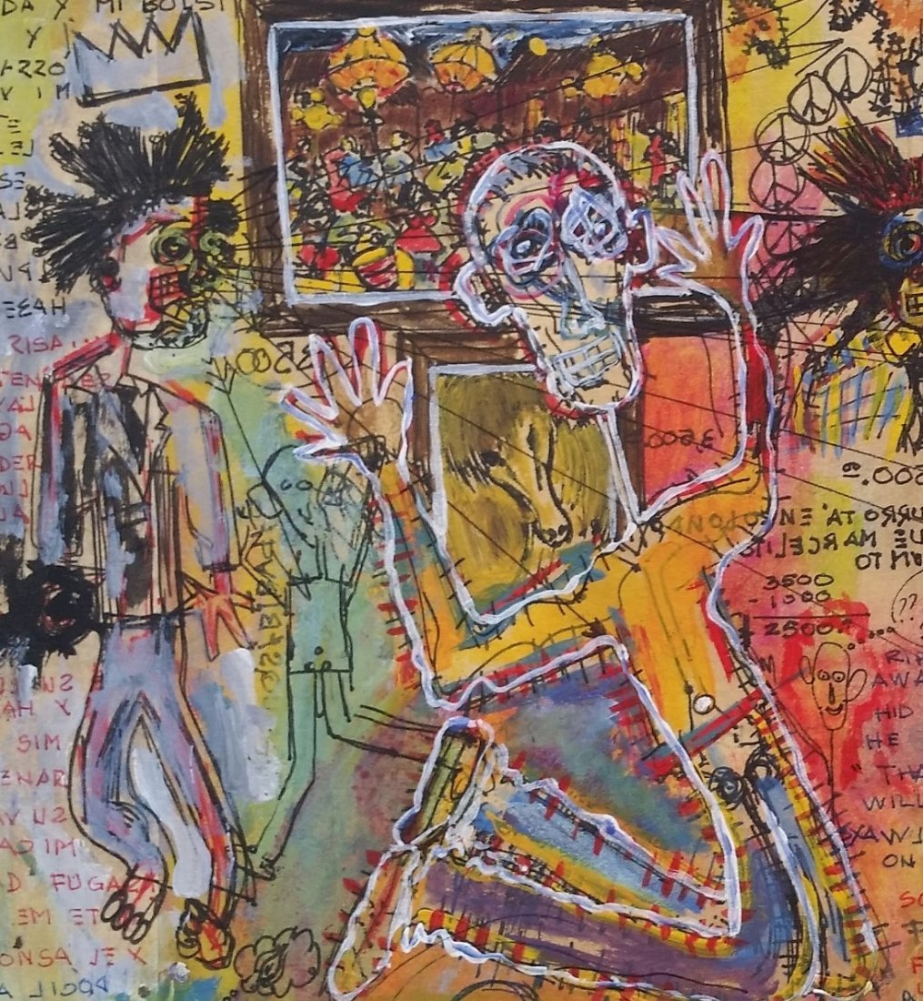 Jean Michel Basquiat Drawing Mixed on paper (1960-1988) - 4